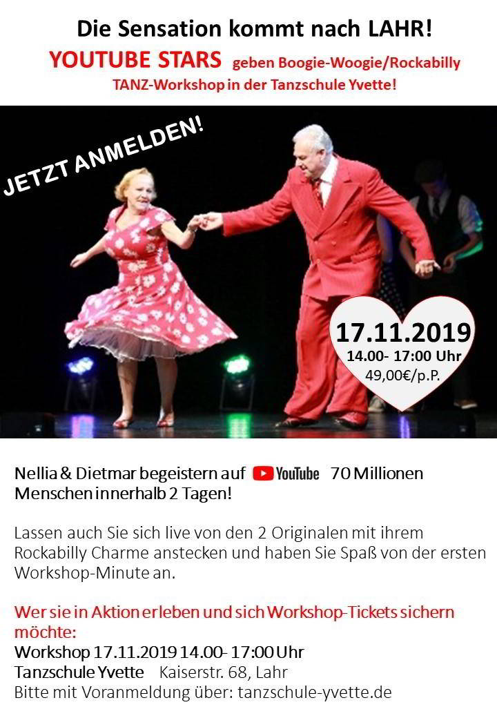 Rockabilly Jive Kurs 2019 in Lahr in der Ortenau